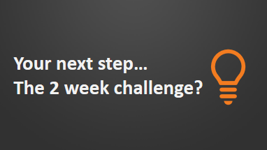 2 week challenge post workshop