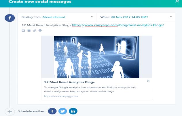 social media publishing in Hubspot -Publish social using chrome extension