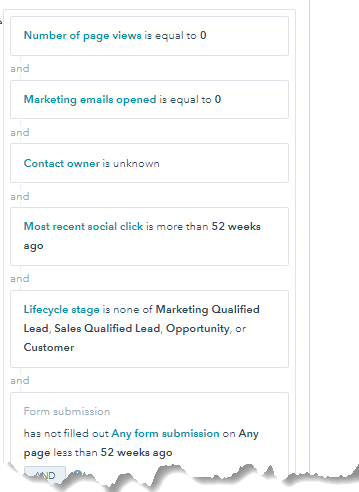 Hubspot-create-list-of-unengaged-contacts