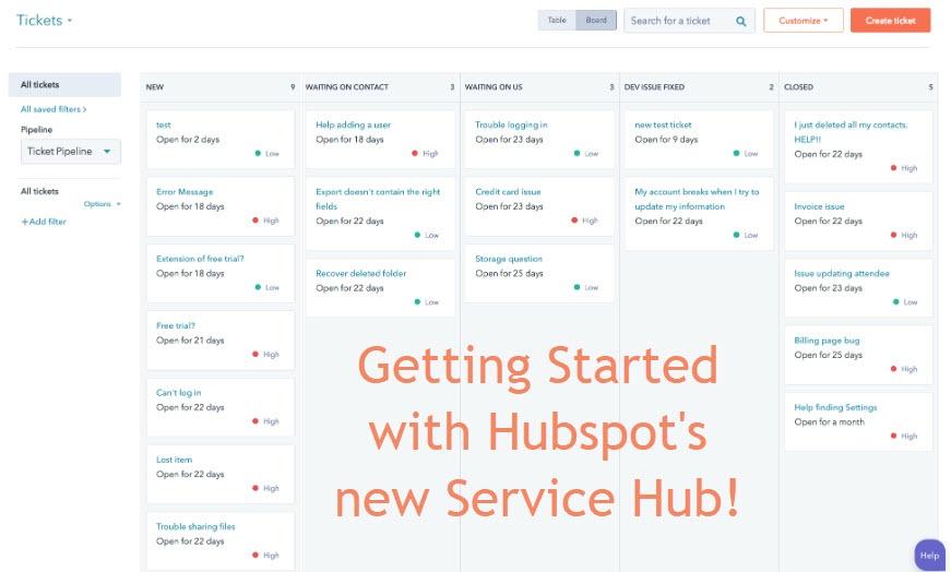 Hubspot's Service Hub tickets